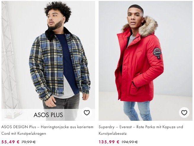 Bis 50% Rabatt auf Winterkleidung bei asos + VSK frei ab 30€   z.B. Superdry Everes Parka in Rot für 135,99€ (statt 165€)