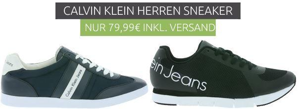 Calvin Klein ACE Heavy   Herren Echtleder Sneaker für 79,99€