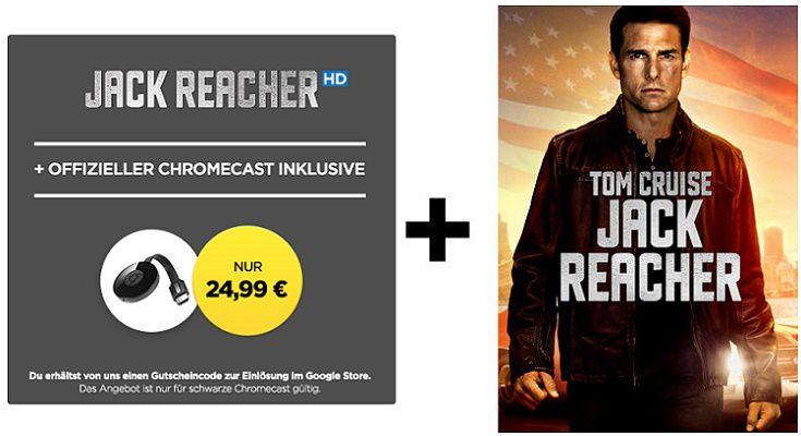 Google Chromecast 2 + Jack Reacher HD Stream für nur 24,99€