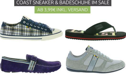 Coast Sneaker und Badeschuhe Sale für Damen und Herren   Zehentreter statt 20€ für 3,99€