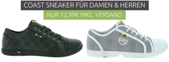 COAST Damen und Herren Sneaker für je 12,99€