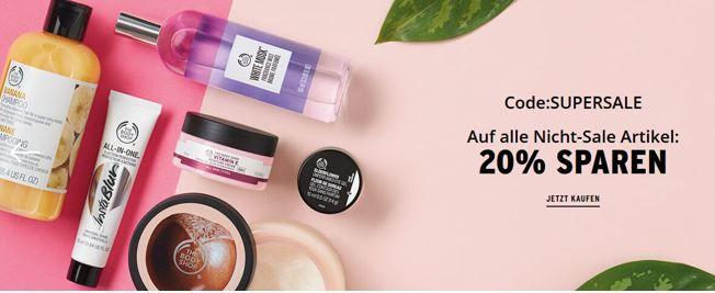Code Supersale The Body Shop: Kauf 3 und Zahl nur 2 Sale Artikel + 20% extra Rabatt im Sale