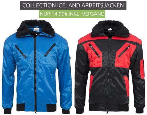 Collection ICELAND Winter Arbeits Jacken für 14,99€ (statt 30€)