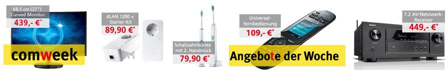 Comtech Comweek Deals – z.B. ASUS   Philips Sonicare EasyClean   2 Schallzahnbürsten statt 90€ für 79,90€