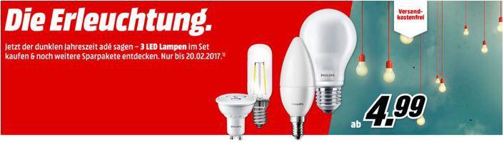 Die Erleuchtung Media Markt LED Lampen Sale   MÜLLER LICHT E14 für 1,99€