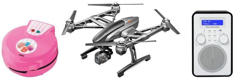 Drohnendeal Saturn Online Offers vom Wochenende   z.B. SCHAUB LORENZ DAB 412, DAB+ Radio statt 60€ für 39,99€