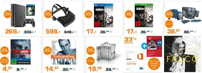 Entertainment Weekend Deals bei Saturn: z.B.  PlayStation 4 Slim 1TB + The Last Guardian für 269€