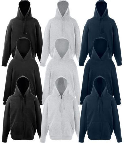 Fruit of the Loom   3er Pack Hoodies oder 2er Kapuzenjacke für 11,99€