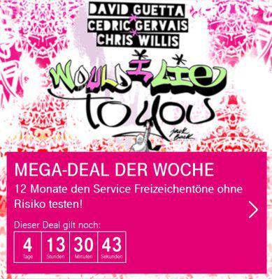 Nur für Telekom Kunden: 12 Monate personalisierter Freiton gratis