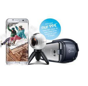 Samsung S7 + Vodafone Junge Leute mit Allnet + SMS Flat + 6 GB LTE nur 30,59€ mtl. + Gear 360 Kamera + Gear VR für 99€