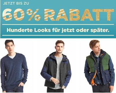 GAP Winter Sale mit bis zu 60% Rabatt + 25% extra Versand + VSK frei ab 50€