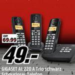 Media Markt GIGASET Tiefpreisspätschicht – GIGASET AL 220 A Trio mit AB und 3 Mobilteilen für nur 49€