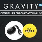 """Google Chromecast 2 + """"Gravity"""" HD Stream für nur 23,99€"""