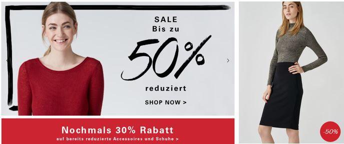 Hallhuber mit 50% Sale und 30% Extra Rabatt auf reduzierte Schuhe + Accessoires +10% Gutschein