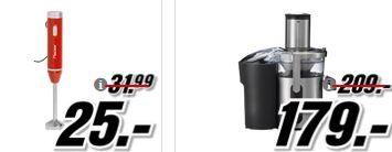 Media Markt Messe Angebote   günstige Haushalts Geräte   u.a. JUPITER Nutrimix Standmixer statt 385€ für 199€