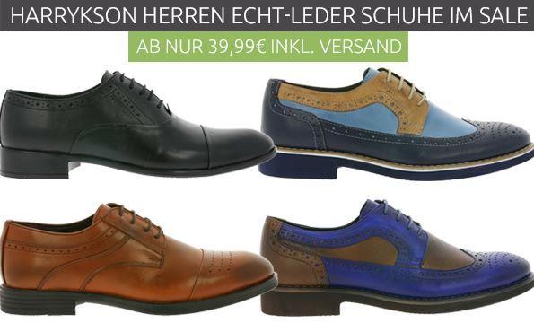 Harrykson   Herren Echt Leder Schuhe ab 37,99€