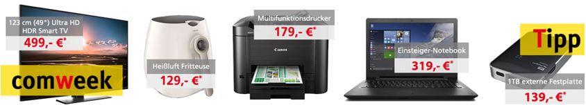 Heissluftfritte Comtech Comweek Deals – z.B. Lenovo IdeaPad 15,6 Notebook 4GB, 128GB SSD für 319€