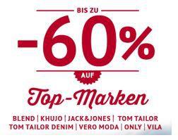 60% Rabatt auf ausgewählte Fashion Marken bei den Hoodboyz: Jack & Jones, TomTailor, Vera Moda, Vila, Khujo   bis Mitternacht