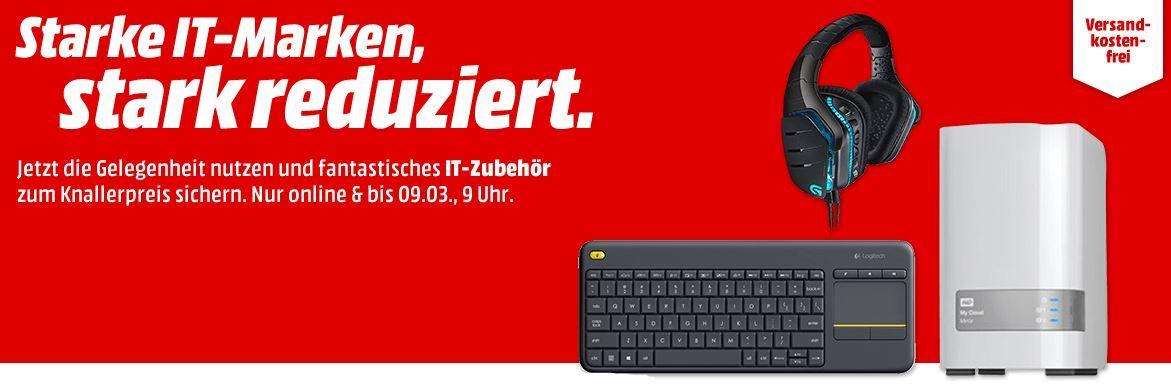Media Markt IT Sale: z.B. LOGITECH G213 Gaming Tastatur statt 57€ für 39€