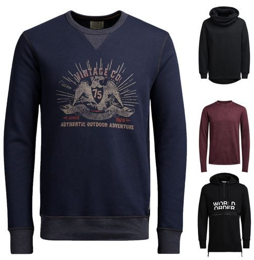 Jack and Jones Herren Hoodies und Sweatshirts für je 19,99€