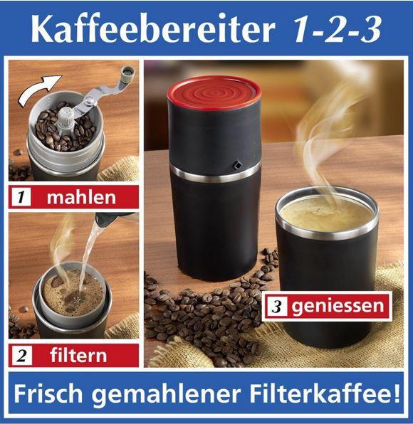 Wenko Kaffeebereiter 3 in 1 mit hochwertiger Mühle und Dauerfilter statt 23€ für 14,99€