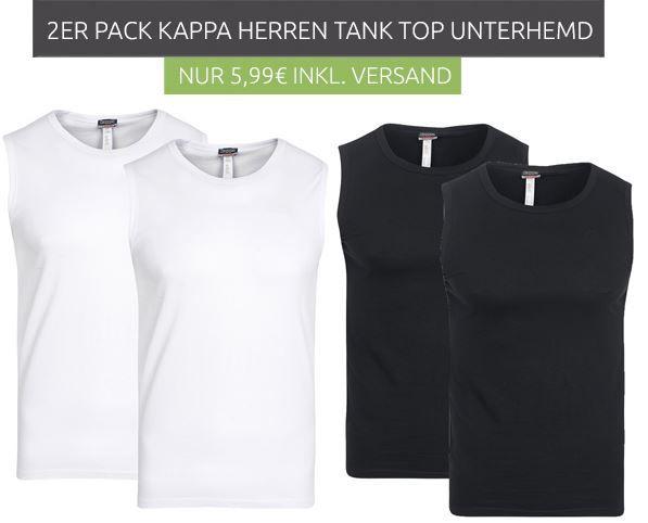 Kappa Sebastiano  2er Pack Herren Tanktops für nur 5,99€