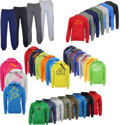 Kappa   Herren Hoodies, Sweatshirts und Jogginghosen bis 3XL für 14,99€