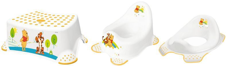 Keeeper Kinder 3er Toiletten Set Keeeper Kinder 3er Toiletten Set   Töpfchen, Toilettensitz und Tritthocker für 19,99€