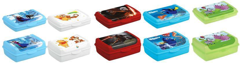 Keeper Brotdosen   Klickbox mit Disney Motiven im 4er Pack für 9,99€