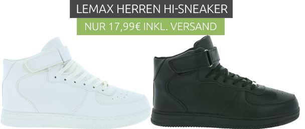 LEMAX Force   Herren High Cut Sneaker für je 17,99€