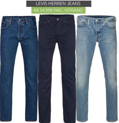 Levis Jeans sale Levis Herren Jeans ab 34,99€   Restgrößen