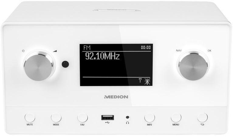 MEDION P85066 MD 87566   DAB+ UKW und Internetradio (Spotify, Multiroom) für 99,99€
