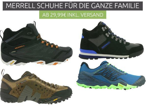 Merrell Schuh Sale Merrell Outdoor Schuhe & Sneaker für die ganze Familie ab 29,99€
