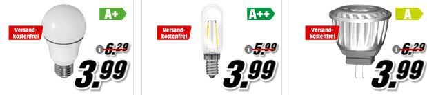 Media Markt LED Lampen Sale   MÜLLER LICHT E14 für 1,99€