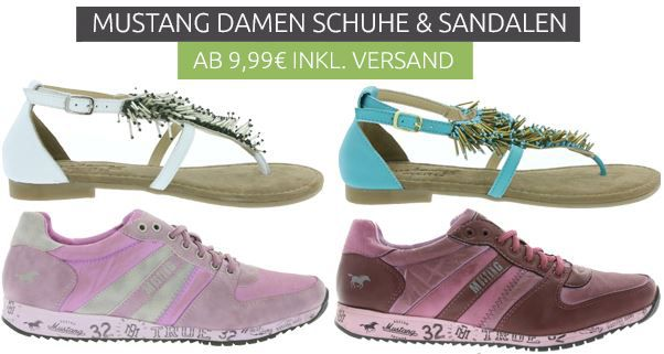 Mustang Damen Schuhe und Sandalen MUSTANG   Damen Schuhen und Sandalen ab 9,99€