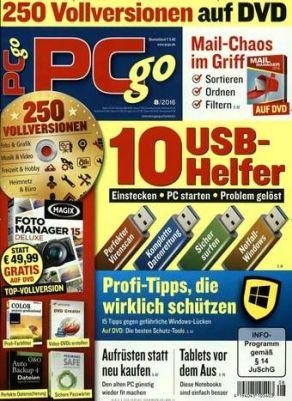PCgo Classic DVD Schnupperabo (4 Zeitschriften) für 16,20€ inkl. 21€ Verrechnungsscheck