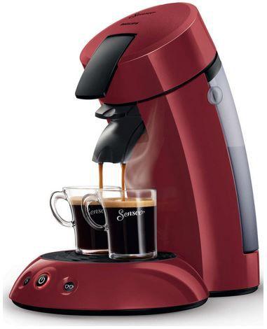 PHILIPS Original Senseo HD7805/40 Kaffeepadmaschine in rot für 49,99€