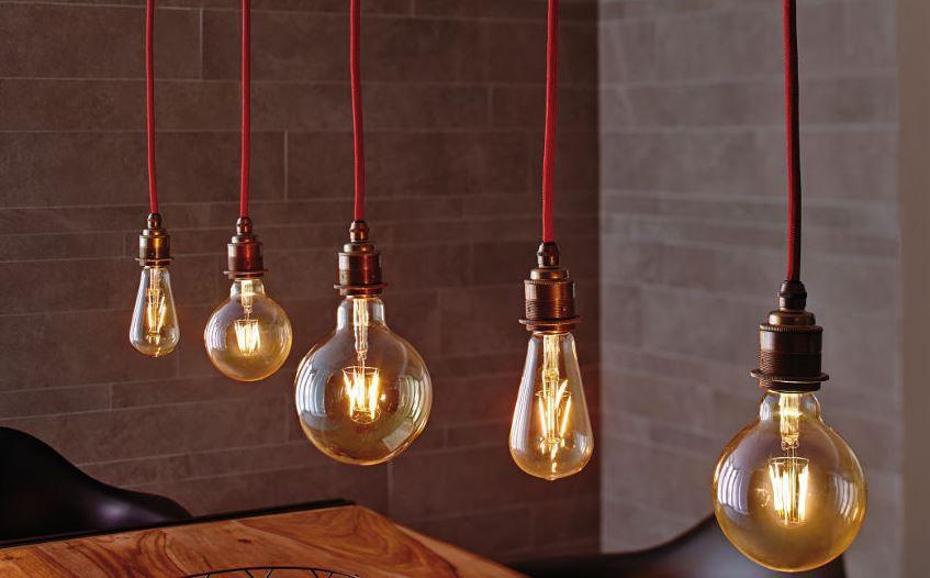 Paulmann Vintage Pendel Leuchte mit LED Retro Kolben 5W oder Retro Globe 2,5W für je 29,99€