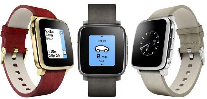 Pebble Time Steel Smartwatch (statt 130€) für 94,50€