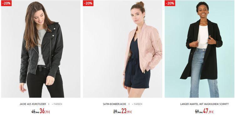 Pimkie mit 8€, 15€ oder 25€ Staffel Rabatt auf Neue Kollektion + ausgewählte Jacken mit bis 20% Rabatt