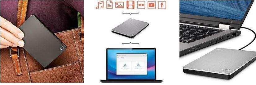 Seagate Backup Plus 5TB   externe tragbare Festplatte inkl. Backup für 159,83€