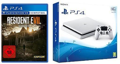 PlayStation4 Slim Weiß + Resident Evil7 für nur 271,02€