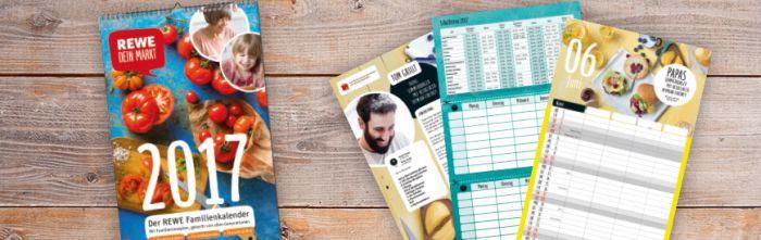 Kostenloser Rewe Familienkalender 2017   ab jetzt in den Märkten verfügbar