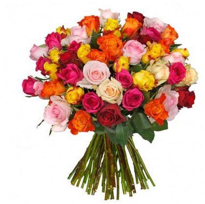 Rosenstrauß Colourful mit 48 Rosen für 22,98€