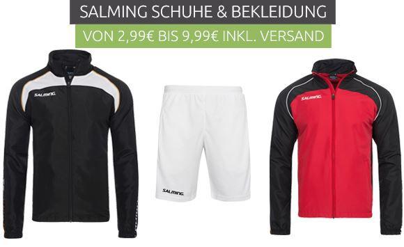 Salming Sale + VSK frei bei Outlet46   z.B. Trainingsshorts für 5€ (statt 13€)