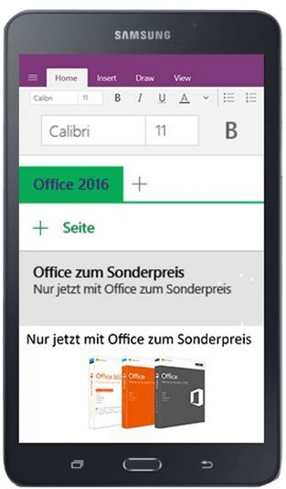 SAMSUNG Galaxy Tab A   7 Zoll Android Tablet statt 124€ für nur 99€