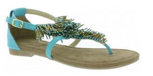 Sandale türkis MUSTANG   Damen Schuhen und Sandalen ab 9,99€