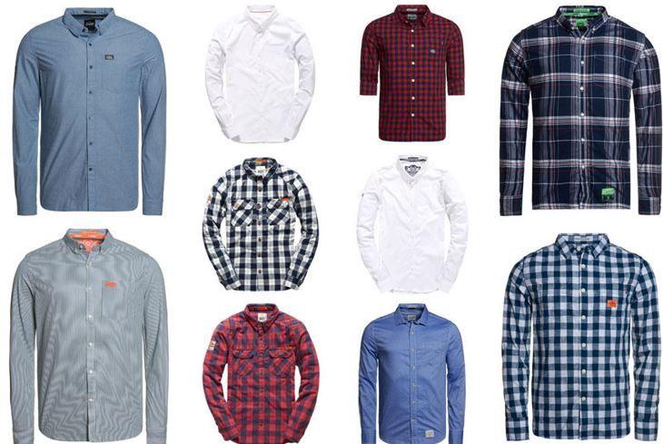 Superdry neu Herren Hemden Superdry Herren Hemden   neue Modelle für je 24,95€