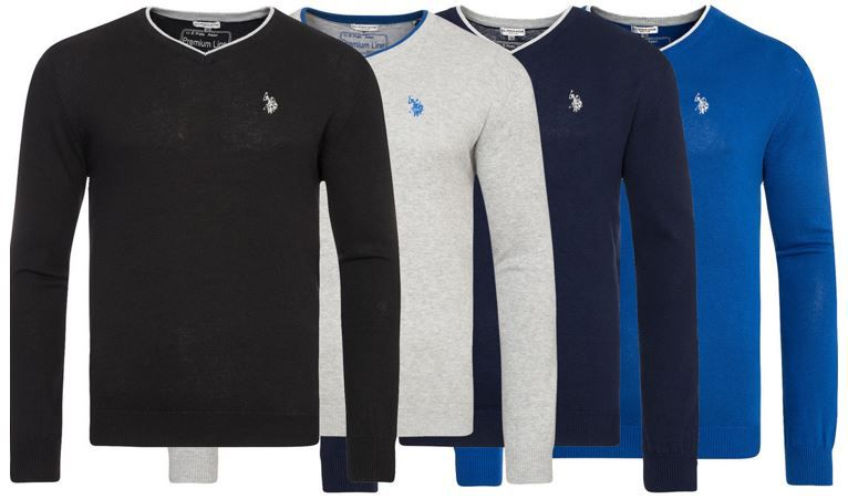 U.S. POLO ASSN.   V Neck Herren Sweater für 14,99€