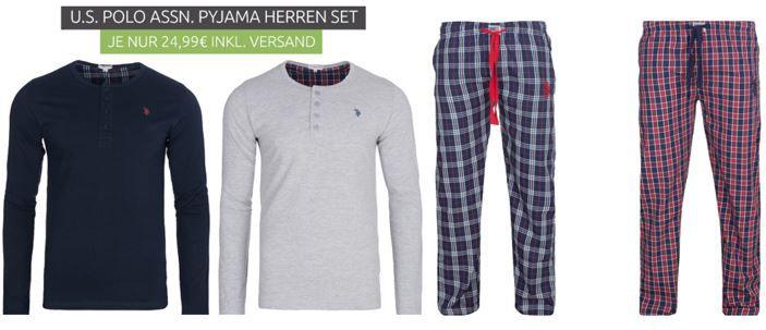 U.S. POLO ASSN. Herren Pyjama Set für 19,98€ (statt 26€)